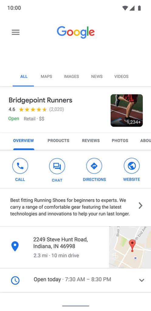 business messages de google