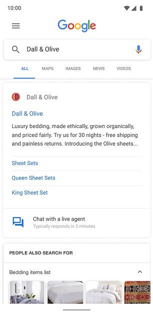 mensajes comerciales de google